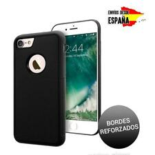 Funda carcasa negra con agujero de Apple para iPhone 7 Plus fibra de carbono