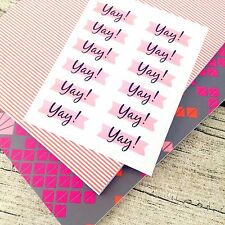 Yay stickers, Pink stickers, Pink planner stickers, Celebration stickers