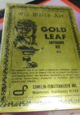 Old World Antique Imitation Gold Leaf Kit Vintage.