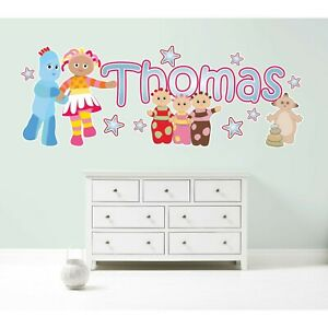 IN THE NIGHT GARDEN PERSONALISED WALL STICKER decal art CBeebies childrens