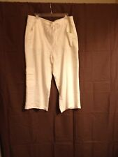 Rafaella Studio Sz 16W Women Ivory Capri Plus Pants w/22 in. inseam!!