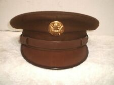 WW2 U.S. Army enlisted visor hat with badge.