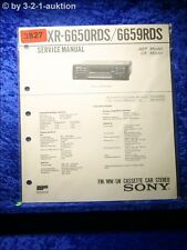 Sony Service Manual XR 6650RDS / 6695RDS Car Stereo (#3827)