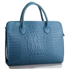 Blue (Crocodile Embossed) Patent Italian Leather Handbags