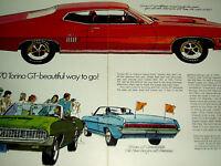 1970 FORD TORINO GT ORIGINAL AD *302/351/390/428/429/fender/decal/grille/emblem