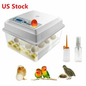 Small Egg Hatcher Machine 16 Eggs Digital Mini Automatic Incubators with Turner