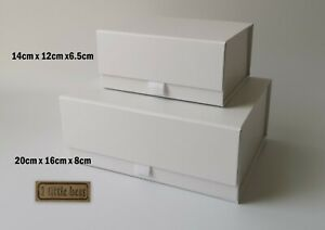 White Luxury Magnetic GIFT BOX Birthday  Wedding Bridesmaid Gift ideas Hamper UK