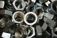 (10) Hex Jam Nut 1-1/2-12 Fine Thread - Zinc Plated - Thin Nuts