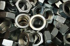 (10) Hex Jam Nut 1-1/2-12 Fine Thread - Zinc Plated - Thin Nuts