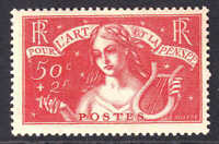 FRANCE B43 OG H M/M VF VERY NICE GUM $125 SCV KEY STAMP @@@