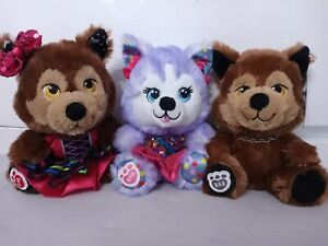 Build a Bear Buddies Werewolf and Husky Lot with outfit Lot of 3 NWT/NWOT