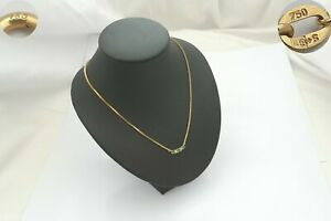 STUNNING HM 18ct GOLD EMERALD AND DIAMOND PENDANT NECKLACE