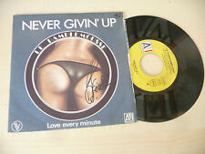 """LE PAMPLEMOUSSE"""" NEVER GIVIN UP- disco 45 giri AI It 1980"""" SEXY COVER-"""