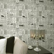 Vintage English Letter Newspaper Wallpaper For Living Room Covering Home Decor b