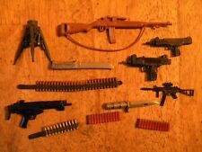 Lot of 12 VINTAGE ACTION FIGURE ACCESSORIES GI JOE KNIFE GUNS AMMO TOYS RIFLES