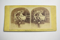 Antique Stereoview Card Advertisement H.F. BRUGGEMAN GROCERIES PITTSBURGH