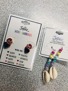 Justice Kids Jewelry Earrings 2 Pair New