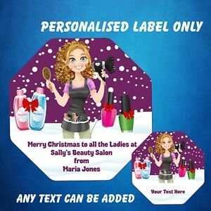 Personalised Chocolate LABEL ONLY fits Quality Street Hairdresser / Beauty Salon