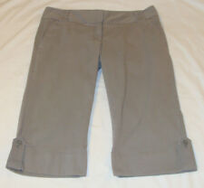 EXPRESS Light Gray Cuffed CHINO Crop CAPRI Pant Sz 10 (18 Inseam)