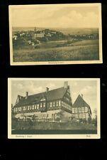 BLOMBERG, (Lippe)  2 alte Ansichtskarten.,  Burg,  Totale, ...BLANKO........