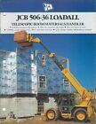 Brochure - JCB - 505-36 Loadall - Telescopic Materials Handler - c1990 (LT513)