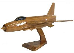 BACs English Electric Lightning RAF Interceptor Aircraft - Wooden Desktop Model.