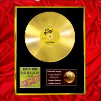 SEX PISTOLS NEVER MIND CD GOLD DISC RECORD FREE P&P!