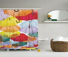 Umbrella Festival Colorful Flying Symbol Street Madrid Spain Fun Shower Curtain