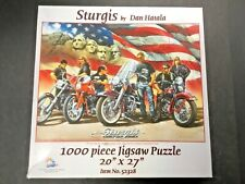"Sturgis Motorcycle Rally 1000 Piece Puzzle 20"" x 27"" Dan Hatala SunsOut COMPLETE"