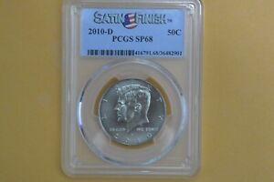 2010 D Kennedy Half Dollar PCGS SP68 SATIN FINISH