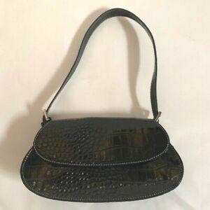 Liz Claiborne Accessories - Black Small Handbag Purse - Beautiful Raised Pattern