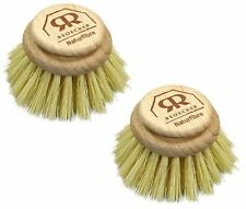 Replacement Brush Head For Large Natural Bristle Dish Washing Brush Pack of 2