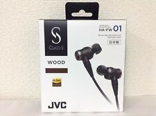 JVC Kenwood CLASS-S Wood HA-FW01 FW01 In-Ear Headphones Hi-Res canal type Japan