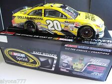 2013 Matt Kenseth #20 Dollar Gen. KENTUCKY RACED WIN NASCAR Diecast 1/24 Action
