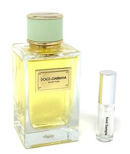Dolce & Gabbana  *VELVET PURE* EAU DE PARFUM - 5 ML PERFUME SAMPLE SPRAY