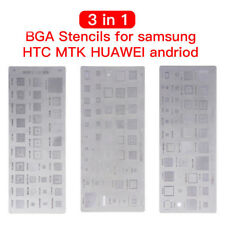 3pcs Universal Bga Reballing Stencils for Mtk Serie HTC Samsung Huawei Android