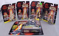 Star Wars EP1 CommTech Reader + Anakin Jar Jar Qui Gon & Obi Wan Figures NIP '98
