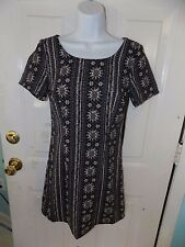 Hollister Black Mini Floral Pattern Patterned Cross-Back Dress Size XS Women's