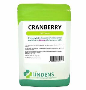 Cranberry Extract 5000mg (100 Tablets) High Strength cystitis urinary health