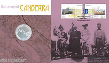 2013 Centenary of Canberra PNC with special uncirculated 20c coin
