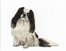 Pekinese Dog Embroidered Iron On Patch Applique 150412