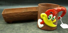 Vintage Walter Lantz Woody Woodpecker Cup Mug Cereal Bowl F&F Mold 1960's (K31)