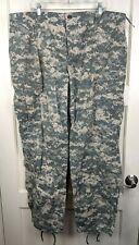 US Army Combat Digital Camo Uniform ACU Trousers Pants Size: Large Reg