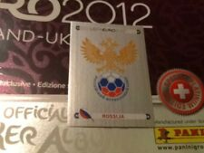 #108 Russia badge Panini Euro 2012 SWISS PLATINUM EDITION football sticker