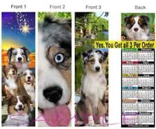 3 Lot-Australian Shepherd 2019 Calendar BOOKMARK Aussie Puppy Dog Gift Book Card