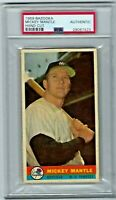 New York Yankees Mickey Mantle 1959 Bazooka PSA Authentic