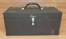 Genuine Vintage Kennedy Brown Tool Box / Tackle Box With Handle on Top **READ**