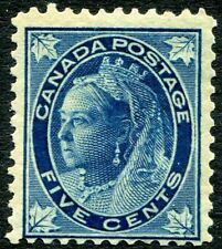 CANADA-1897 5c Deep Blue Sg 146 MOUNTED MINT V30131
