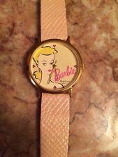 Barbie Watch 1989 Mattel Leather light baby pink band retro armitron Quartz cute