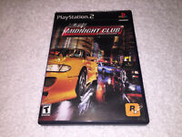 Midnight Club: Street Racing (PlayStation 2, 2000) PS2 Black Label Complete Exc!
